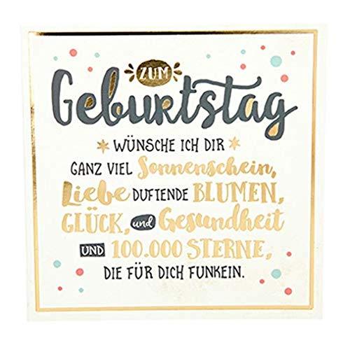 ückwunschkarte mit Glanzeffekt und Musik, Geburtstag, Mehrfarbig ()