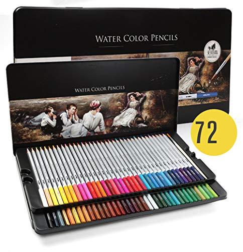 Set di matite colorate professionali per miscelare i colori, come un professionista, per opere d'arte vivaci. leggero e colorato.