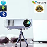 "WOWOTO 05 LED Android WiFi Bluetooth Portable Projector 2000 Lumen USB/AV/HDMI 120"" Display"