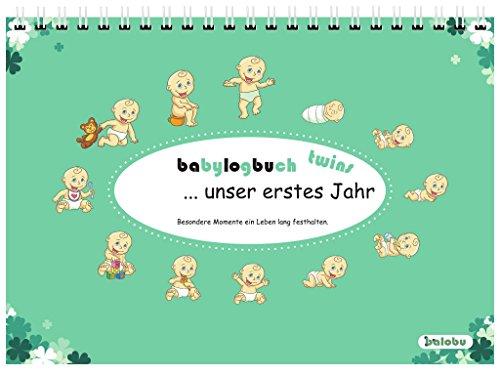 babylogbuch twins - unser erstes Jahr - inkl. Aufkleberset