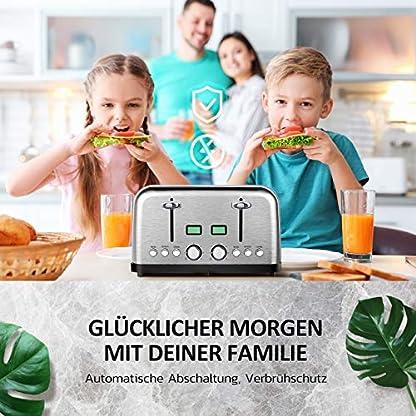Holife-Toaster-4-Scheiben-Edelstahl-Toaster-1750W-mit-2-LCD-Countdown-Anzeige-35CM-breiten-Schlitzen-6-brunungsstufen-und-4-Moden-Bagel-Auftau-Aufwrm-sowie-Abschaltungsmode