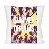 Summer Dreams Palms Beach Pillow