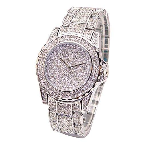 IG-Invictus Damenmode Diamanten Analog Quarz Vogue Uhren Starry Diamond Watch Silber (Vogue Uhren Frauen)