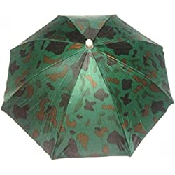 Primi Creative elástica patrón de camuflaje diadema Sun lluvia paraguas sombrero gorra