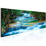 murando® Bilder 135x45cm ! Echtes XXL Panoramabild - Leinwand - Fertig Aufgespannt - Top - Wandbilder - Wand Bild - Kunstdrucke - Wandbild - Wasserfall Natur Landschaft c-B-0160-b-a 135x45 cm