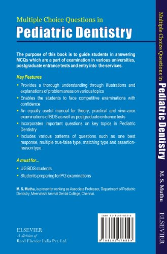 MCQs in Pediatric Dentistry | Muthu | 8131228150