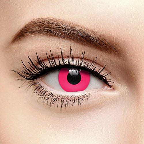 EDIT 90 Tage UV Farbige Kontaktlinsen Ohne Stärke (i-Glow Pink)