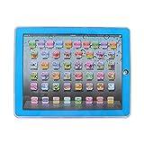 GDRAVEN Baby Tablet Lernspielzeug, Englisch Touch Screen Pad Computer Laptop für Kleinkind Kinder Geschenke Englisch Lernen, Lernspaß Laptop Blau/Rosa (Blau)