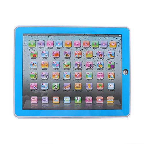 Lernspielzeug, Englisch Touch Screen Pad Computer Laptop für Kleinkind Kinder Geschenke Englisch Lernen, Lernspaß Laptop Blau/Rosa (Blau) ()