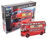 Revell Modellbausatz Bus 1:24 - Doppeldecker London Bus im Maßstab 1:24, Level 5, originalgetreue Nachbildung mit vielen Details, 07651