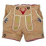 BONDI Lederhosen Short ´Gipfelkraxler´ Beige Gr. 80 - Fesche kurze Trachten Hose aus Kunstleder vom Markenhersteller BONDI Kidswear für Jungen