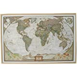 National Geographic Weltkarte auf Kork-Pinnwand