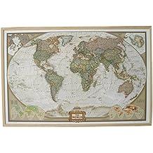 National Geographic Mapa del Mundo en Tablero de Corcho