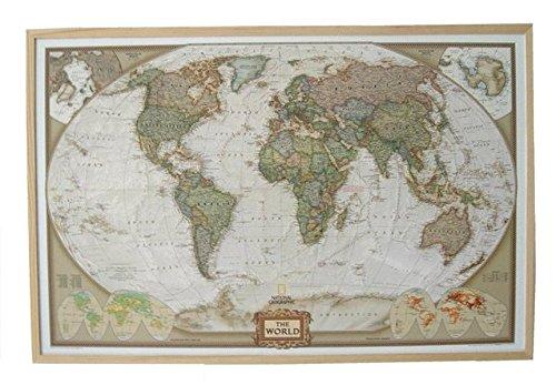 National Geographic Weltkarte auf Kork-Pinnwand, 90x60cm