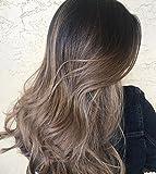 LaaVoo 20 Pouce 10Pcs/140g Easy Fit Clip Extension Cheveux Humains Naturel Remy Hair Brun Fonce Balayage Ombre Cendre Blonde Clips Pleine d'Extension Lisse#2/18