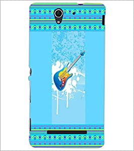 PrintDhaba Guitar D-3555 Back Case Cover for SONY XPERIA C3 (Multi-Coloured)