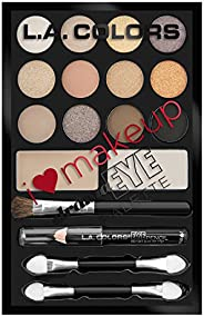 L.A Colors I Heart Makeup Eyeshadow Palette, Darling Nudes, 24.6g