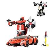 HSP Himoto RC ferngesteuertes Roboter-Auto, Transformation per Knopfdruck, 2,4GHz, Komplett-Set RTR inkl. Fernsteuerung, Akku und Ladegerät