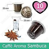 Caffè Kickkick Aroma Sambuca 10 Capsule Compatibili Nespresso