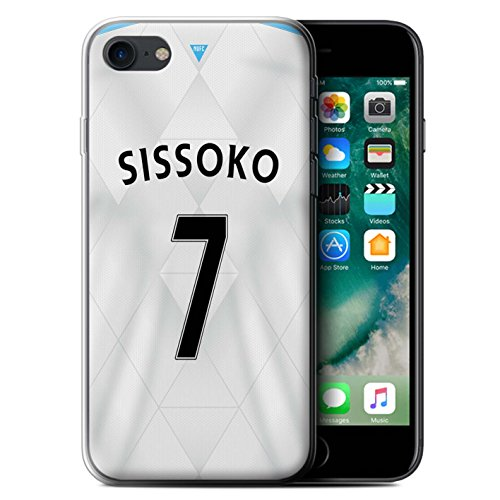 Officiel Newcastle United FC Coque / Etui Gel TPU pour Apple iPhone 7 / Mitrovic Design / NUFC Maillot Extérieur 15/16 Collection Sissoko