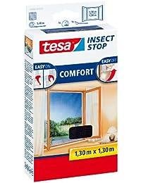 tesa Fliegengitter Comfort für Fenster - beste tesa Qualität - anthrazit, durchsichtig