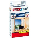 tesa Fliegengitter für Fenster, beste tesa Qualität, weiß, leichter Sichtschutz
