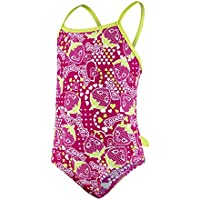 Speedo Starfizz Essential Frill Bañador 1 Pieza, niñas, Rosa (Electric Pink/Navy / Lime Punch), 6 años