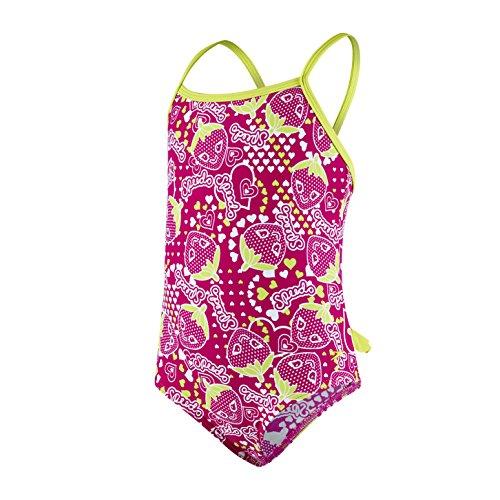 Speedo Baby Starfizz Essential Frill 1 Piece Swimwear, Electric Pink/Navy/Lime Punch, 2 Jahre