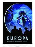 onthewall Europa NASA Espacio exploración 30x 40cm Art Póster Impresión