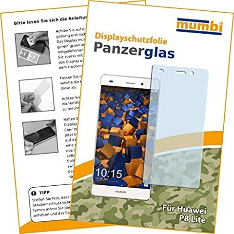 mumbi Panzerfolie Huawei P8 Lite Glasfolie Hartglas 9H (nicht für das P8 Lite Smart)