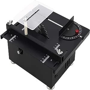 Silber 110-240V Tischkreiss/äge Holzbearbeitung DIY Modellschneidemaschine-Mini Tischkreiss/äge-DIY Modellschneidemaschine mit B12 Chuck-Elektrische Poliermaschine