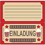 Einladungskarten zum Geburtstag Kino Film - (8 Stück)