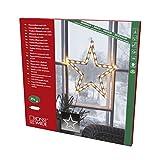 Konstsmide, 2164-010, LED Fenstersilhouette, 'Stern', 35 warm weiße Dioden , 230V, Innen, weißes Kabel