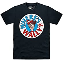 Official Where's Wally Logo Camiseta, Para hombre