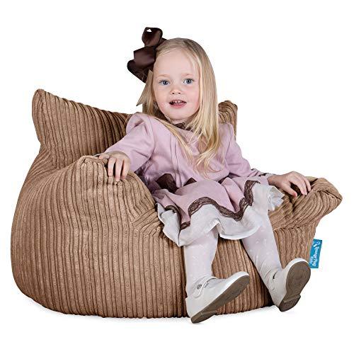 Lounge Pug®, Kindersessel Sitzsäcke, Sitzsack Kinder, Cord Sand -