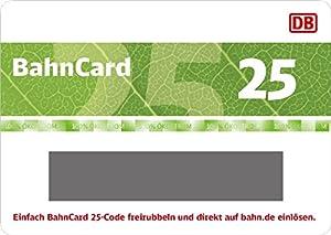 Deutsche Bahn | BahnCard 25 Geschenkkarte (Gutschein ausschließlich einlösbar von Reisenden zwischen 27 und 59 Jahre!) - exklusiv bei Amazon