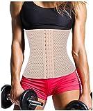 Damen Waist Training Trainer Korsett Sport Taille Cincher Body Shaper Taillenmieder (Large, Beige) Bild