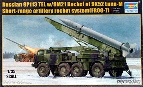 "Trumpeter 01025 - Modellbausatz ""Russian 9P113 TEL w/9M21 Rocket of 9K52 Luna-M Short-range artillery rocket"""