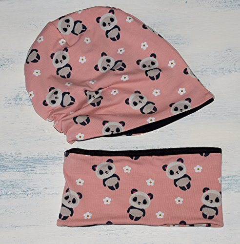 set-di-cappello-hipster-unisex-reversibile-e-sciarpa-per-neonato-e-bambino-slouchy-beanie-di-panda-d