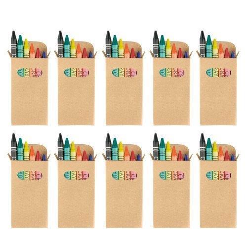 eBuyGB - Juego de ceras para colorear, paquete de 50. Ideal para bolsas de fiesta para niños y juguetes para bodas