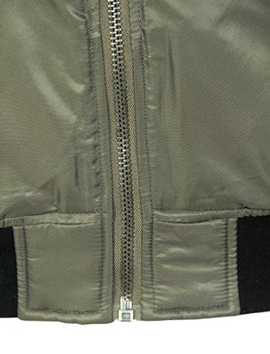 Tokyo Laundry Herren Paulton Zip Durch Pilotenjacke Militär Bomber Jacke Größe S-XXL Grün