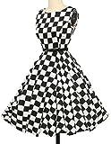 einzigartig rockabilly kleid sommerkleid a linie festliches kleid karnevalskostüm Größe L CL6086-10 -
