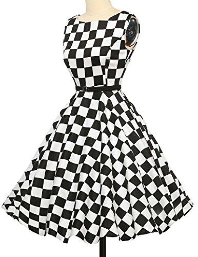 50s Retro Vintage Rockabilly Kleid Partykleider Cocktailkleider GD6086 CL6086-10#