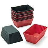 Best Freshware Cake Pans - Freshware CB-308RB Silicone Mini Rectangle Reusable Cupcake Review