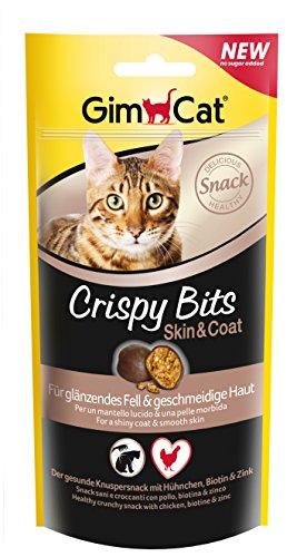 GimCat Crispy bits Skin & Coat Snack Crujiente, 3 x 40 g