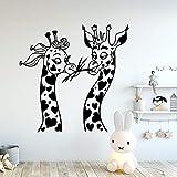 BailongXiao Giraffa Moderna Vinile Cucina Adesivo murale Carta da Parati Camera dei Bambini Fai da Te Decorazione Domestica Decorazione murale 54x54cm