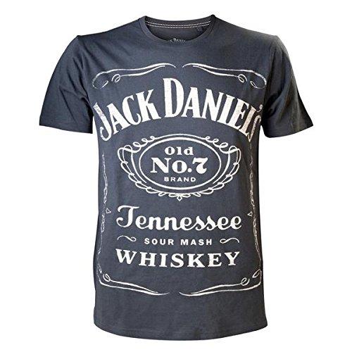OLD No.7 JACK DANIEL'S - VINTAGE GRAUE MÄNNER - Offizielle Jack Daniel's Merchandise (Large 117cms brust)