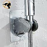 Nagel frei Handheld Dusche Kopf Dusche verstellbar Handbrause Halterung Wandhalterung für Badezimmer mit Kleber Stick Disc - ABS Grade Kunststoff