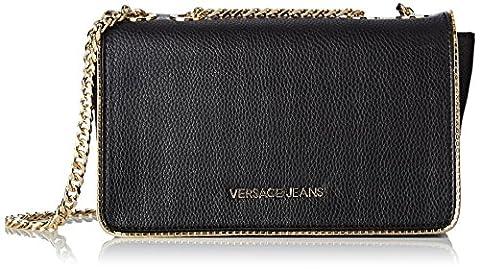 Versace Jeans Ee1vqbbh2_e75426, Women's Top-Handle Bag, Nero, 7x15x23 cm (W x H L)