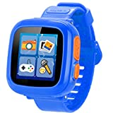Juego Niños Smart Watch para Niños Chicas Chico con Cámara 1.5 '' Touch 10 Juegos Pedómetro Timer Despertador Toy Smartwatch Reloj de Salud Monitor de Salud (Azul real)